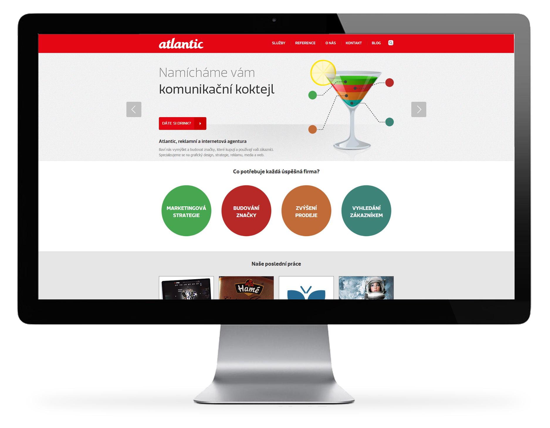 Atlantic – webová prezentace reklamní agentury