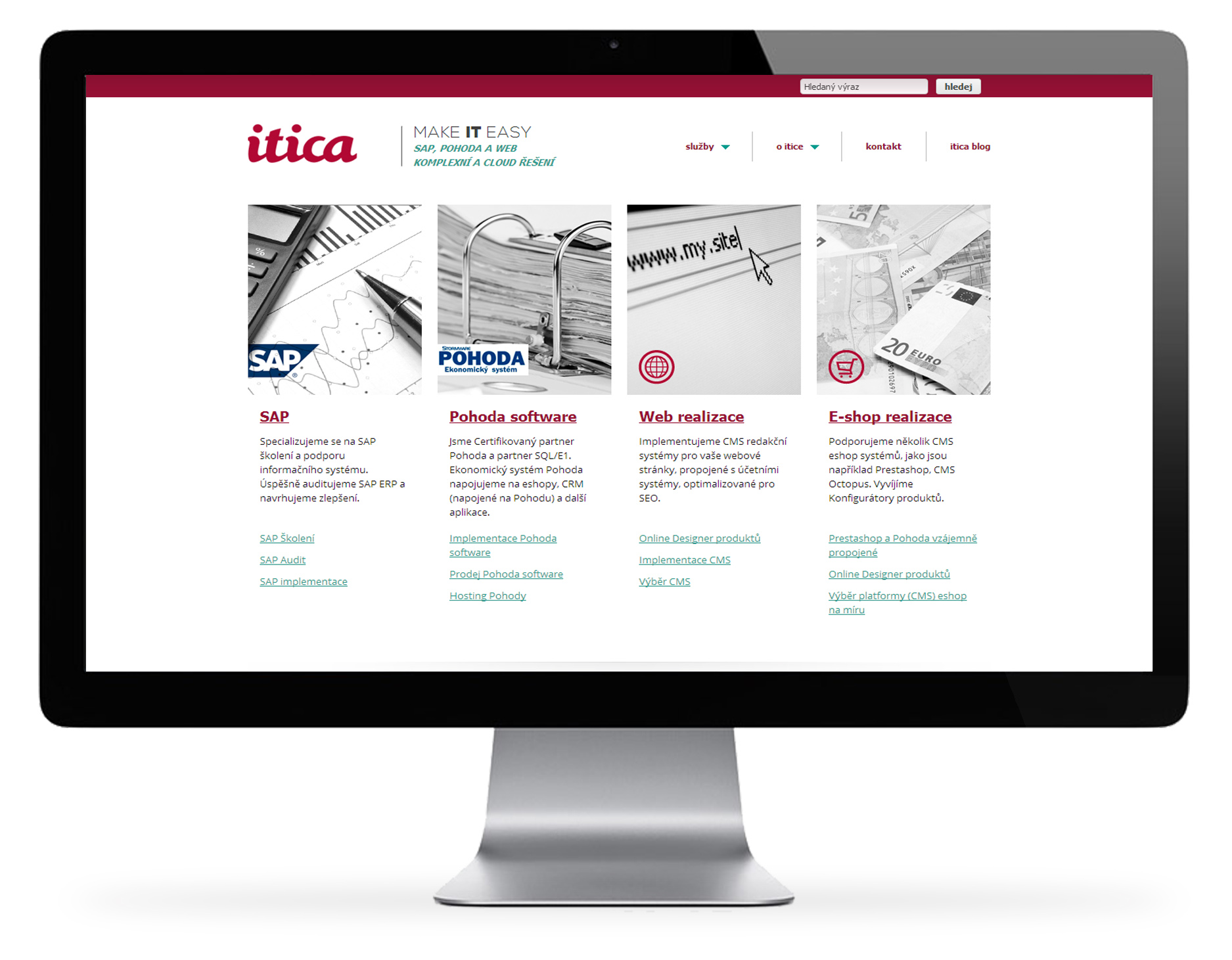 Itica – webová prezentace