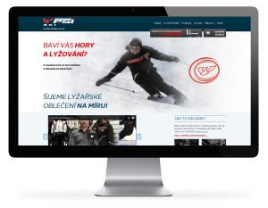 PSí SKI – webová prezentace lyžařského oblčení